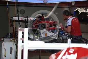 World © Octane Photographic Ltd. Formula 1 – Italian GP - Pit lane. Alfa Romeo Racing C38. Autodromo Nazionale Monza, Monza, Italy. Thursday 4th September 2019.