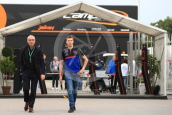 World © Octane Photographic Ltd. Formula 1 – Italian GP - Paddock. Scuderia Toro Rosso STR14 – Daniil Kvyat. Autodromo Nazionale Monza, Monza, Italy. Friday 6th September 2019.