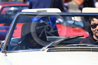 World © Octane Photographic Ltd. Formula 1 – Japanese GP - Drivers' Parade. Mercedes AMG Petronas Motorsport AMG F1 W10 EQ Power+ - Lewis Hamilton. Suzuka Circuit, Suzuka, Japan. Sunday 13th October 2019.