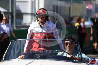 World © Octane Photographic Ltd. Formula 1 – Japanese GP - Drivers' Parade. Alfa Romeo Racing C38 – Antonio Giovinazzi. Suzuka Circuit, Suzuka, Japan. Sunday 13th October 2019.