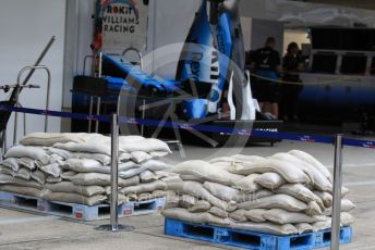 World © Octane Photographic Ltd. Formula 1 – Japanese GP - Evening teardown and Typhoon Hagibis preparations. ROKiT Williams Racing. Suzuka Circuit, Suzuka, Japan. Friday 11th October 2019.