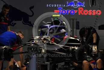 World © Octane Photographic Ltd. Formula 1 – Japanese GP - Evening teardown and Typhoon Hagibis preparations. Scuderia Toro Rosso. Suzuka Circuit, Suzuka, Japan. Friday 11th October 2019.