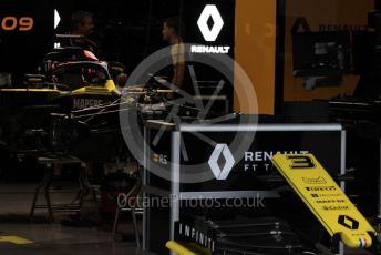 World © Octane Photographic Ltd. Formula 1 – Japanese GP - Evening teardown and Typhoon Hagibis preparations. Renault Sport F1 Team RS19 – Daniel Ricciardo. Suzuka Circuit, Suzuka, Japan. Friday 11th October 2019.