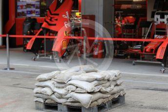 World © Octane Photographic Ltd. Formula 1 – Japanese GP - Evening teardown and Typhoon Hagibis preparations. Scuderia Ferrari. Suzuka Circuit, Suzuka, Japan. Friday 11th October 2019.