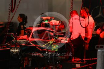 World © Octane Photographic Ltd. Formula 1 – Japanese GP - Evening teardown and Typhoon Hagibis preparations. Mercedes AMG Petronas Motorsport AMG F1 W10 EQ Power+ - Valtteri Bottas. Suzuka Circuit, Suzuka, Japan. Friday 11th October 2019.
