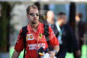 World © Octane Photographic Ltd. Formula 1 – Japanese GP - Paddock. Scuderia Ferrari SF90 – Sebastian Vettel. Suzuka Circuit, Suzuka, Japan. Thursday 10th October 2019.