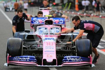 World © Octane Photographic Ltd. Formula 1 – Japanese GP - Parc Ferme. SportPesa Racing Point RP19 – Lance Stroll. Suzuka Circuit, Suzuka, Japan. Thursday 10th October 2019.