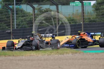 World © Octane Photographic Ltd. Formula 1 – Japanese GP - Practice 1. Haas F1 Team VF19 – Kevin Magnussen and McLaren MCL34 – Lando Norris. Suzuka Circuit, Suzuka, Japan. Friday 11th October 2019.