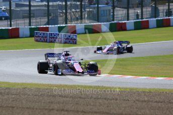 World © Octane Photographic Ltd. Formula 1 – Japanese GP - Qualifying. SportPesa Racing Point RP19 – Sergio Perez and Lance Stroll. Suzuka Circuit, Suzuka, Japan. Sunday 13th October 2019.