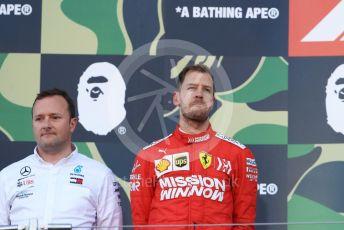World © Octane Photographic Ltd. Formula 1 – Japanese GP - Podium. Mercedes AMG Petronas Motorsport AMG F1 W10 EQ Power+ Chief Aerodynamicist, Scuderia Ferrari SF90 – Sebastian Vettel. Suzuka Circuit, Suzuka, Japan. Sunday 13th October 2019.