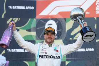 World © Octane Photographic Ltd. Formula 1 – Japanese GP - Podium. Mercedes AMG Petronas Motorsport AMG F1 W10 EQ Power+ - Valtteri Bottas. Suzuka Circuit, Suzuka, Japan. Sunday 13th October 2019.