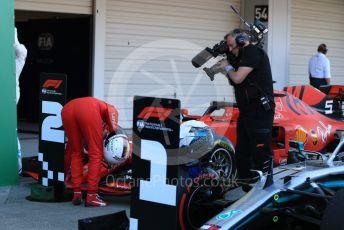 World © Octane Photographic Ltd. Formula 1 – Japanese GP - Parc Ferme. Scuderia Ferrari SF90 – Sebastian Vettel. Suzuka Circuit, Suzuka, Japan. Sunday 13th October 2019.