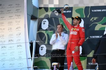 World © Octane Photographic Ltd. Formula 1 – Japanese GP - Podium. Scuderia Ferrari SF90 – Sebastian Vettel. Suzuka Circuit, Suzuka, Japan. Sunday 13th October 2019.