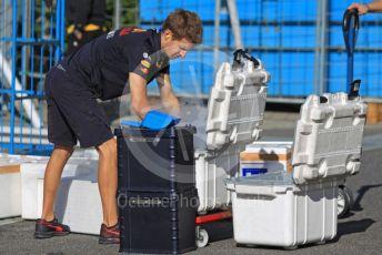 World © Octane Photographic Ltd. Formula 1 – Japanese GP - Paddock. Aston Martin Red Bull Racing mechanic loading dry ice. Suzuka Circuit, Suzuka, Japan. Sunday 13th October 2019.