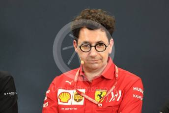 World © Octane Photographic Ltd. Formula 1 - Hungarian GP – Friday FIA Team Press Conference. Mattia Binotto – Team Principal of Scuderia Ferrari. Suzuka Circuit, Suzuka, Japan. Friday 11th October 2019.