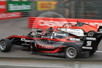 World © Octane Photographic Ltd. Formula Renault Eurocup – Monaco GP - Practice. Bhaitecj - Federico Malvesti and MP Motorsport - Lorenzo Colombo. Monte-Carlo, Monaco. Thursday 23rd May 2019.