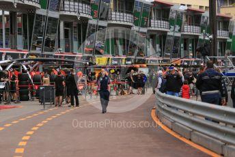 World © Octane Photographic Ltd. Formula 1 – Monaco GP. Atmosphere/Pitlane. Monte-Carlo, Monaco. Wednesday 22nd May 2019.
