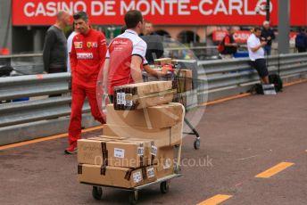 World © Octane Photographic Ltd. Formula 1 – Monaco GP. Setup. Alfa Romeo Racing C38 – Antonio Giovinazzi. Monte-Carlo, Monaco. Wednesday 22nd May 2019.