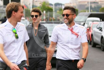 World © Octane Photographic Ltd. Formula 1 – Monaco GP. Track Walk. McLaren MCL34 – Lando Norris. Monte-Carlo, Monaco. Wednesday 22nd May 2019.