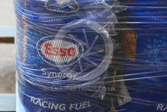 World © Octane Photographic Ltd. Formula 1 – Monaco GP. Paddock. Aston Martin Red Bull Racing RB15 Esso Synergy fuel. Monte-Carlo, Monaco. Wednesday 22nd May 2019.