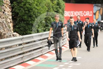 World © Octane Photographic Ltd. Formula 1 – Monaco GP. Track Walk. ROKiT Williams Racing FW 42 – George Russell. Monte-Carlo, Monaco. Wednesday 22nd May 2019.