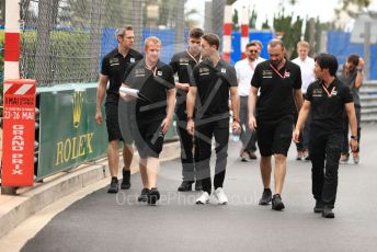 World © Octane Photographic Ltd. Formula 1 – Monaco GP. Track Walk. Rich Energy Haas F1 Team VF19 – Romain Grosjean. Monte-Carlo, Monaco. Wednesday 22nd May 2019.