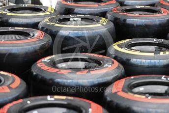 World © Octane Photographic Ltd. Formula 1 – Monaco GP. Track Walk. ROKiT Williams Racing FW 42 wheels and Pirelli tyres. Monte-Carlo, Monaco. Wednesday 22nd May 2019.
