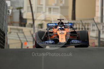 World © Octane Photographic Ltd. Formula 1 – Monaco GP. Practice 1. McLaren MCL34 – Carlos Sainz. Monte-Carlo, Monaco. Thursday 23rd May 2019.