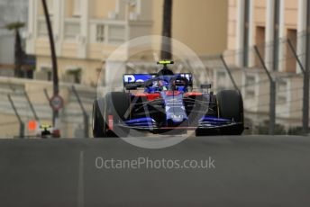 World © Octane Photographic Ltd. Formula 1 – Monaco GP. Practice 1. Scuderia Toro Rosso STR14 – Alexander Albon. Monte-Carlo, Monaco. Thursday 23rd May 2019.