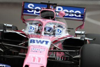 World © Octane Photographic Ltd. Formula 1 – Monaco GP. Practice 1. SportPesa Racing Point RP19 - Sergio Perez. Monte-Carlo, Monaco. Thursday 23rd May 2019.