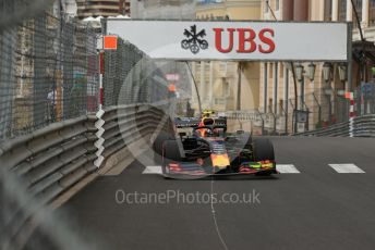 World © Octane Photographic Ltd. Formula 1 – Monaco GP. Practice 1. Aston Martin Red Bull Racing RB15 – Pierre Gasly. Monte-Carlo, Monaco. Thursday 23rd May 2019.