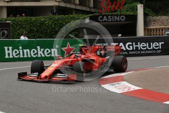 World © Octane Photographic Ltd. Formula 1 – Monaco GP. Practice 1. Scuderia Ferrari SF90 – Charles Leclerc. Monte-Carlo, Monaco. Thursday 23rd May 2019.