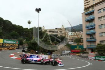 World © Octane Photographic Ltd. Formula 1 – Monaco GP. Practice 1. SportPesa Racing Point RP19 – Lance Stroll. Monte-Carlo, Monaco. Thursday 23rd May 2019.