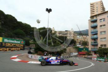 World © Octane Photographic Ltd. Formula 1 – Monaco GP. Practice 1. Scuderia Toro Rosso STR14 – Daniil Kvyat. Monte-Carlo, Monaco. Thursday 23rd May 2019.