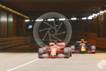 World © Octane Photographic Ltd. Formula 1 – Monaco GP. Practice 2. Scuderia Ferrari SF90 – Sebastian Vettel. Monte-Carlo, Monaco. Thursday 23rd May 2019.