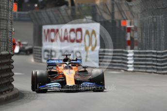 World © Octane Photographic Ltd. Formula 1 – Monaco GP. Practice 2. McLaren MCL34 – Carlos Sainz. Monte-Carlo, Monaco. Thursday 23rd May 2019.