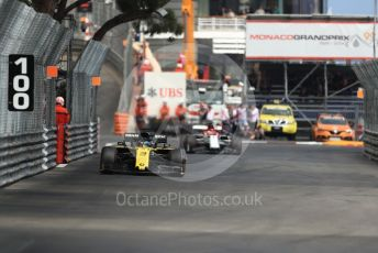 World © Octane Photographic Ltd. Formula 1 – Monaco GP. Practice 2. Renault Sport F1 Team RS19 – Daniel Ricciardo. Monte-Carlo, Monaco. Thursday 23rd May 2019.