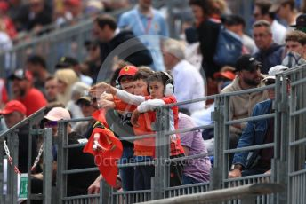 World © Octane Photographic Ltd. Formula 1 – Monaco GP. Practice 2. Scuderia Ferrari fans. Monte-Carlo, Monaco. Thursday 23rd May 2019.