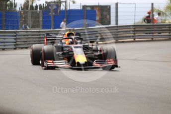 World © Octane Photographic Ltd. Formula 1 – Monaco GP. Practice 3. Aston Martin Red Bull Racing RB15 – Max Verstappen. Monte-Carlo, Monaco. Saturday 25th May 2019.