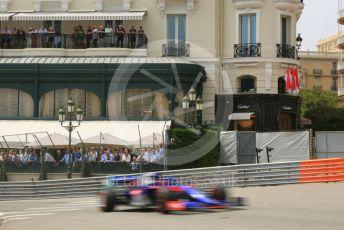 World © Octane Photographic Ltd. Formula 1 – Monaco GP. Practice 3. Scuderia Toro Rosso STR14 – Daniil Kvyat. Monte-Carlo, Monaco. Saturday 25th May 2019.