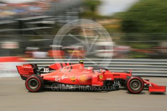 World © Octane Photographic Ltd. Formula 1 – Monaco GP. Practice 3. Scuderia Ferrari SF90 – Charles Leclerc. Monte-Carlo, Monaco. Saturday 25th May 2019.