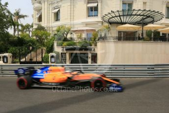 World © Octane Photographic Ltd. Formula 1 – Monaco GP. Practice 3. McLaren MCL34 – Carlos Sainz. Monte-Carlo, Monaco. Saturday 25th May 2019.