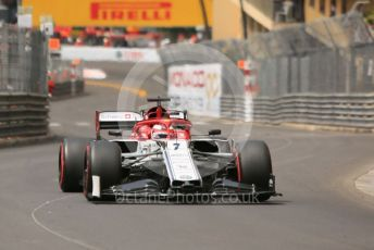 World © Octane Photographic Ltd. Formula 1 – Monaco GP. Practice 3. Alfa Romeo Racing C38 – Kimi Raikkonen. Monte-Carlo, Monaco. Saturday 25th May 2019.