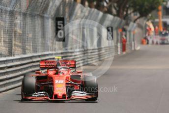 World © Octane Photographic Ltd. Formula 1 – Monaco GP. Practice 3. Scuderia Ferrari SF90 – Charles Leclerc. Monte-Carlo, Monaco. Saturday 25th May 2019.