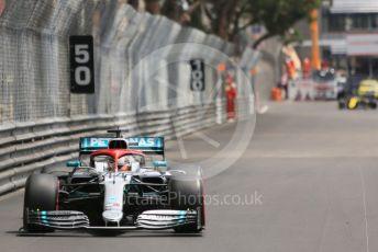 World © Octane Photographic Ltd. Formula 1 – Monaco GP. Practice 3. Mercedes AMG Petronas Motorsport AMG F1 W10 EQ Power+ - Lewis Hamilton. Monte-Carlo, Monaco. Saturday 25th May 2019.