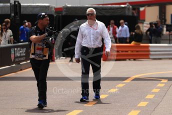 World © Octane Photographic Ltd. Formula 1 - Monaco GP. Practice 3. Lance Stroll father Lawrence Stroll - investor, part-owner of SportPesa Racing Point. Monte-Carlo, Monaco. Saturday 25th May 2019.