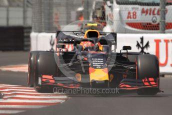 World © Octane Photographic Ltd. Formula 1 – Monaco GP. Qualifying. Aston Martin Red Bull Racing RB15 – Pierre Gasly. Monte-Carlo, Monaco. Saturday 25th May 2019.