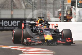 World © Octane Photographic Ltd. Formula 1 – Monaco GP. Qualifying. Aston Martin Red Bull Racing RB15 – Max Verstappen. Monte-Carlo, Monaco. Saturday 25th May 2019.