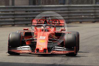World © Octane Photographic Ltd. Formula 1 – Monaco GP. Qualifying. Scuderia Ferrari SF90 – Sebastian Vettel. Monte-Carlo, Monaco. Saturday 25th May 2019.