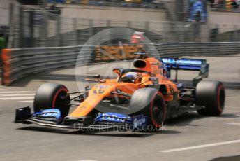 World © Octane Photographic Ltd. Formula 1 – Monaco GP. Qualifying. McLaren MCL34 – Carlos Sainz. Monte-Carlo, Monaco. Saturday 25th May 2019.